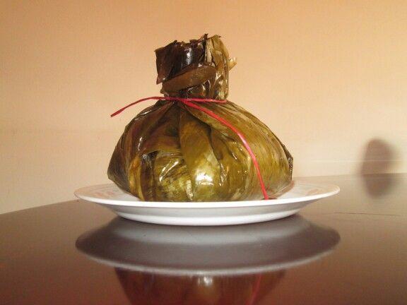 Tamal con chocolate