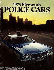1973 Plymouth Fury Satellite Pursuit Police Cruiser Car Pull Out Brochure Ad | eBay