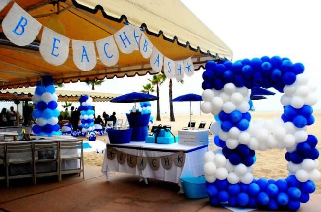 A Boy S Beach Bash First Birthday Party Balloon Decorations