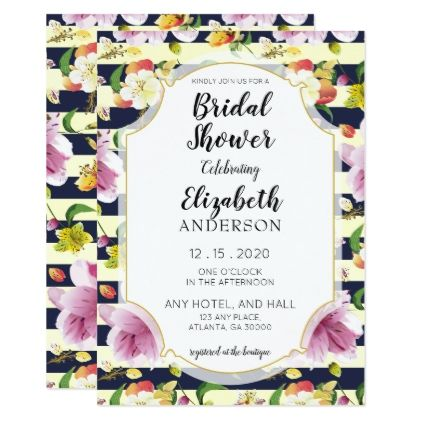 Tropical Alstromeria Floral Spring Bridal Shower Card - floral style flower flowers stylish diy personalize