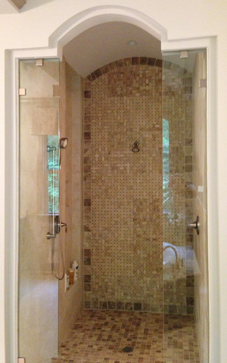 Cool Walk In Shower In A Luxury Custom Home Model