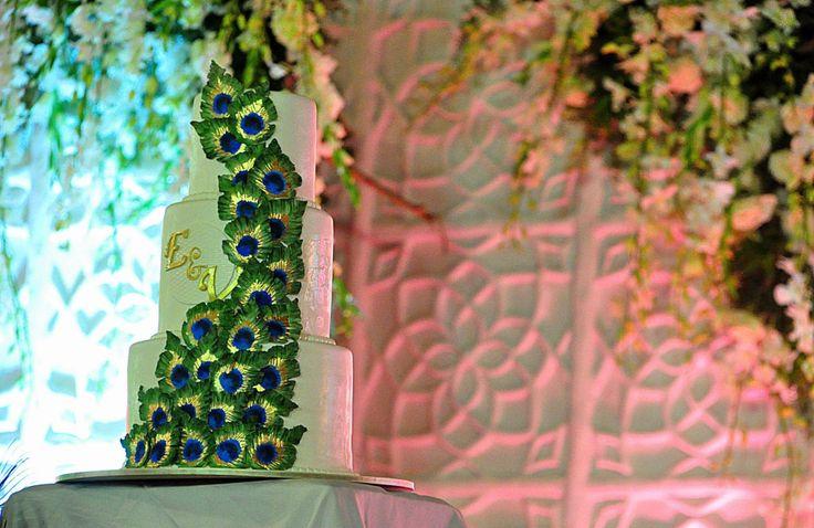 India. Wedding cake.