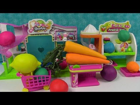 Play-Doh Surprise Eggs Hidden Toys Shopkins Small Mart Minecraft & More - YouTube