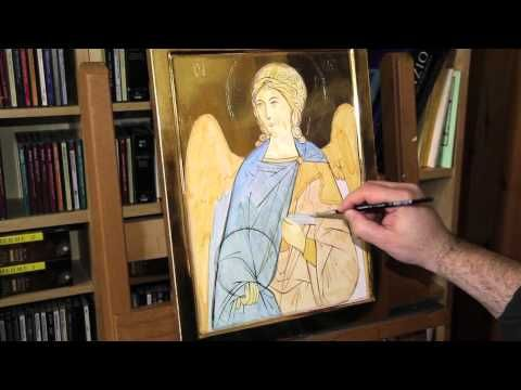 ▶ 1 - Icon of an Angel ground colors, 1st in series of 10 instructional videos