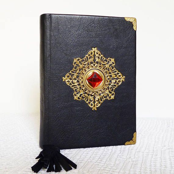 Writing Leather Journal Gothic Diary Sorcerers Stone Wizard #magicbook  #magicspells  #wizard #notebook  #diary  #writingjournal  #leathergift  #sorcerersstone #blackjournal