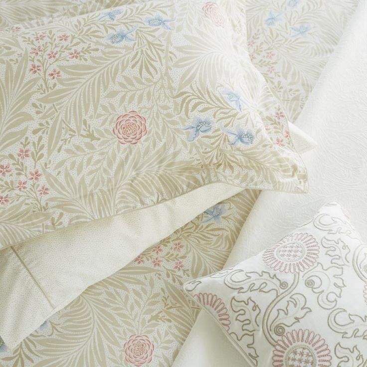 Larkspur Bedding   Luxury Floral Bedlinen by William Morris at Bedeck Home