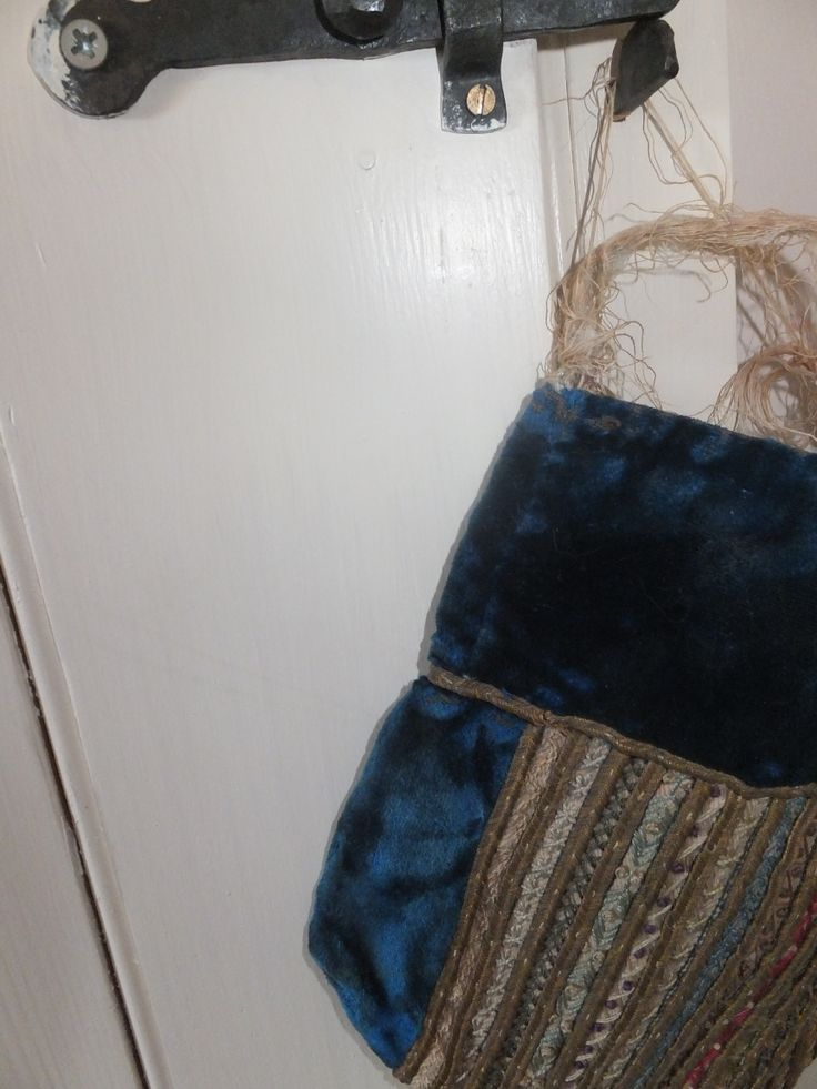 More door furniture ~ fill a Victorian velvet & ribbon bag with scented herbs