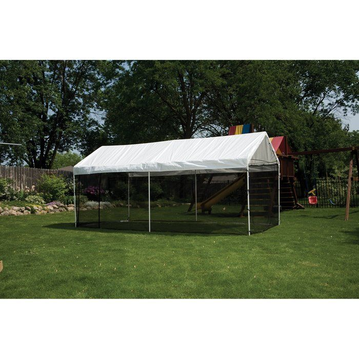 Maxap 10 Ft X 20 Ft Screen In 2020 Screen House Outdoor Canopy Gazebo Batting Cage Backyard