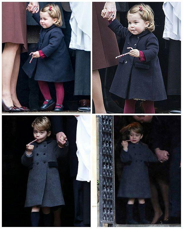 Prince George and Princess Charlotte Christmas 2016