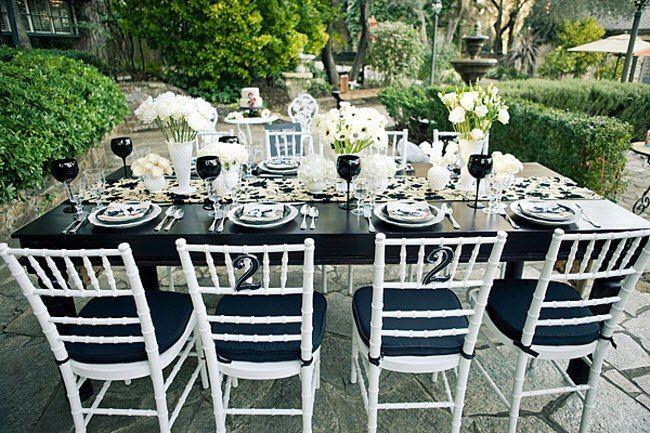 Черно-белая свадьба / Готическая свадьба   ДЕКОР для СВАДЬБЫ — Demidini