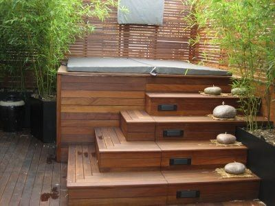 Great idea for the new hot tub!  :)