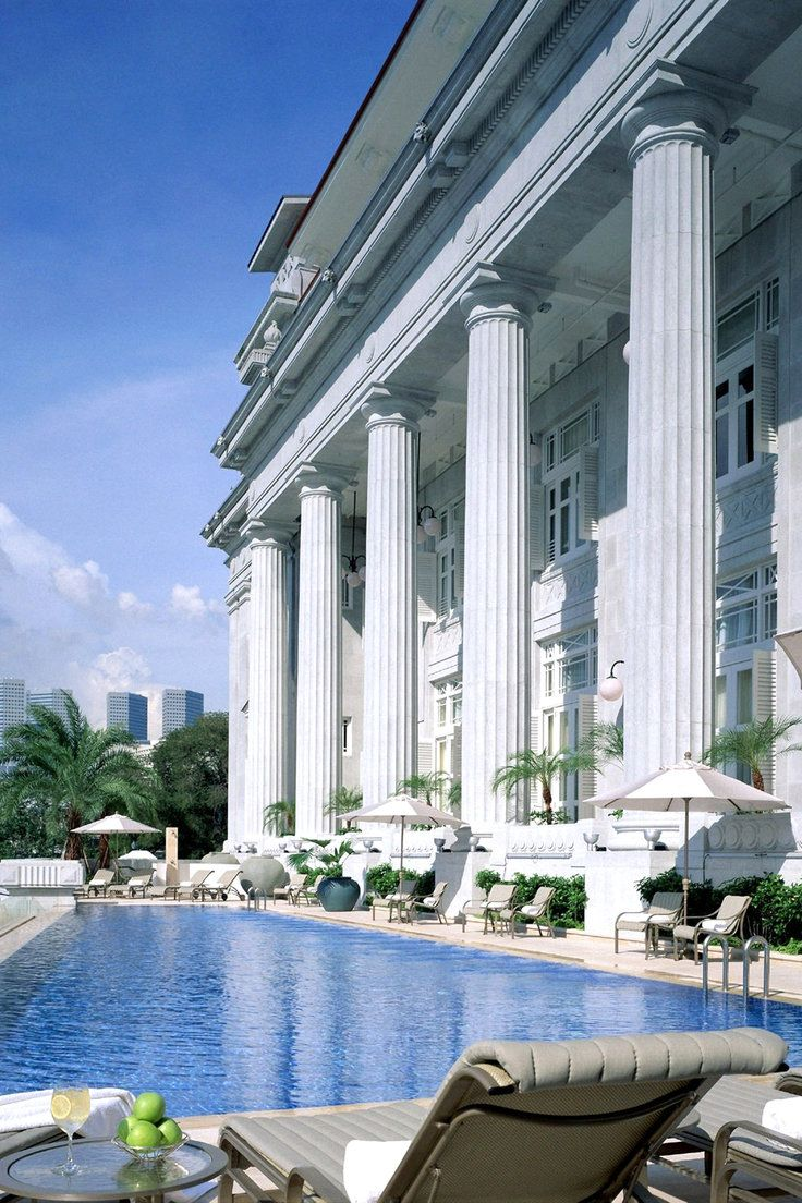 The Fullerton Hotel Singapore - Singapore, Singapore - Take a dip in the outdoor infinity pool and scan the city's impressive skyline.