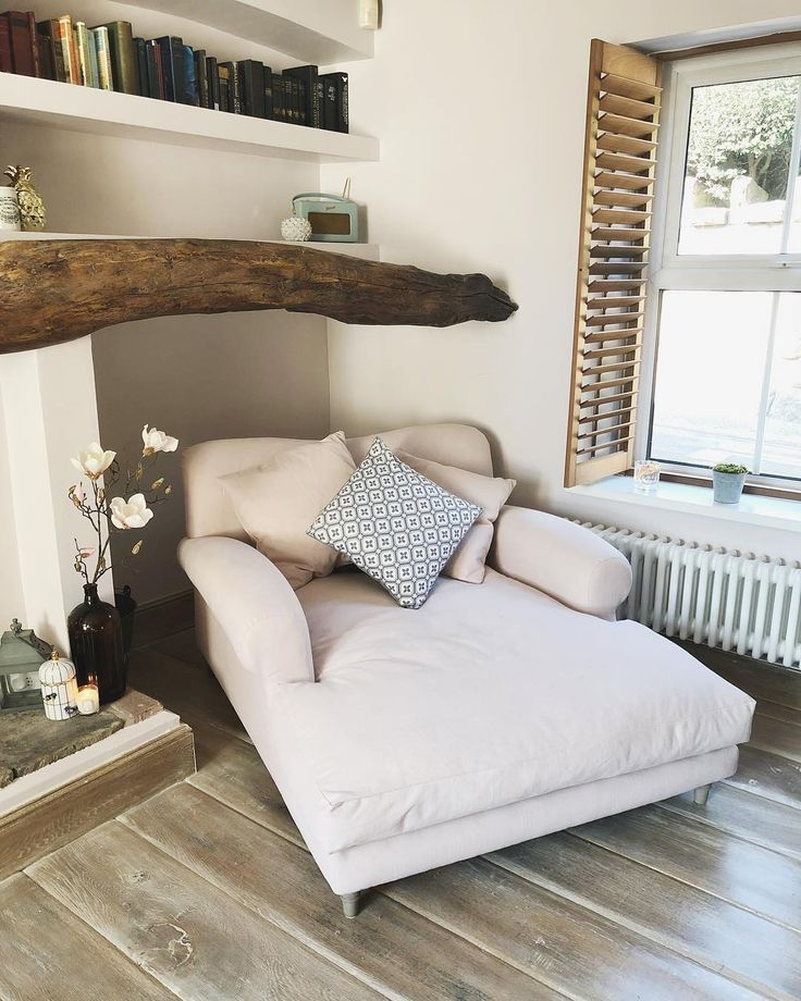 Extra wide beige chaise lounge @simply.weekend