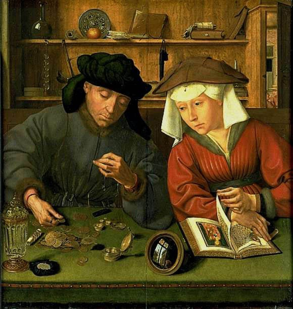 Quentin Metsys - The Moneylender and his Wife (1514)