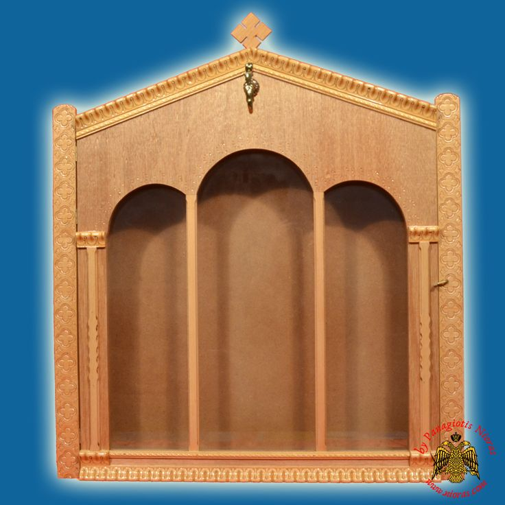 Eikonostasi Icon Wooden Case Flat A' with Columns LB