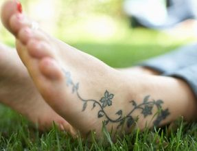 scrolling vine tattoos on foot - Google Search