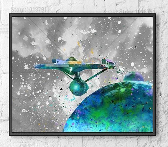 Star Trek Movie Poster on canvas print #MovieMerchandise #Films #Posters #BuyMoviePosters