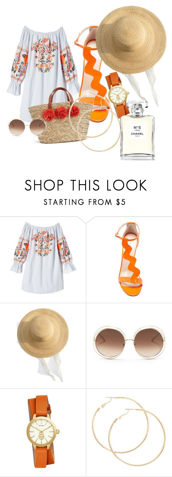 """""""Untitled #20"""" by androsales24 on Polyvore featuring Free People, Camilla Elphick, Samuji, Chloé, Tory Burch and Chanel"""