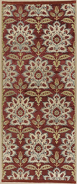 17th Century ottoman silk velvet • carnation and tulip design