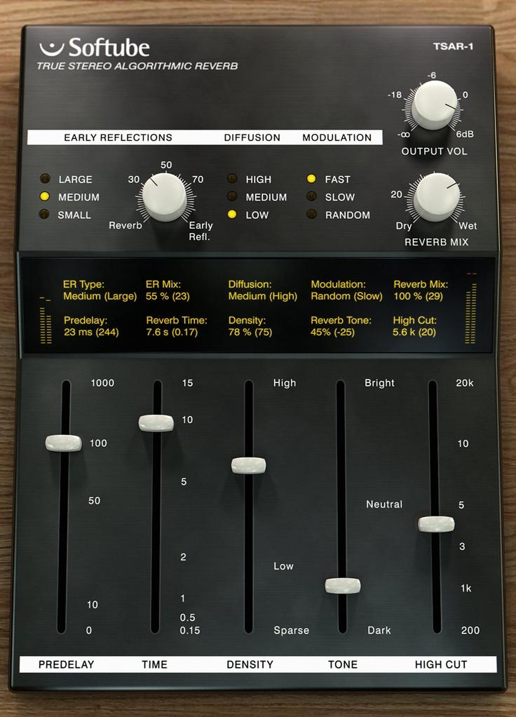 @SoftubeStudios TSAR-1. wide palette reverb unit. Thick sound