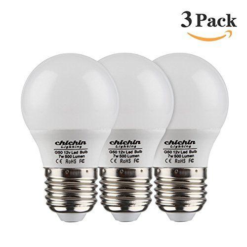 ChiChinLighting 12 Volt 7 Watt LED Light Bulb (3 Bulbs Per Pack) - E26/E27 Light Bulb 12v Low Voltage - Warm White 3000k 7w Light Bulb - Off Grid Solar System, RV, Marine LED Lights. For product & price info go to:  https://all4hiking.com/products/chichinlighting-12-volt-7-watt-led-light-bulb-3-bulbs-per-pack-e26-e27-light-bulb-12v-low-voltage-warm-white-3000k-7w-light-bulb-off-grid-solar-system-rv-marine-led-lights/
