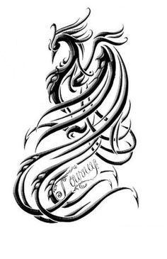 Tattoo tribal fenix pesquisa google tatuagens pinterest for Fenix tribal tattoo