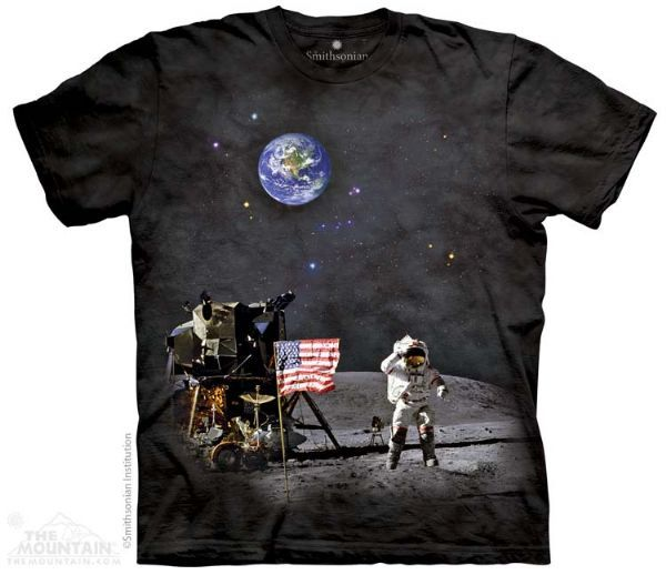 The Mountain Space T-shirt | Moon Landing, New 2014 Adult T-shirts from The Mountain, 108350