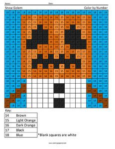 Iron Golem Minecraft Color By Number Coloring Page