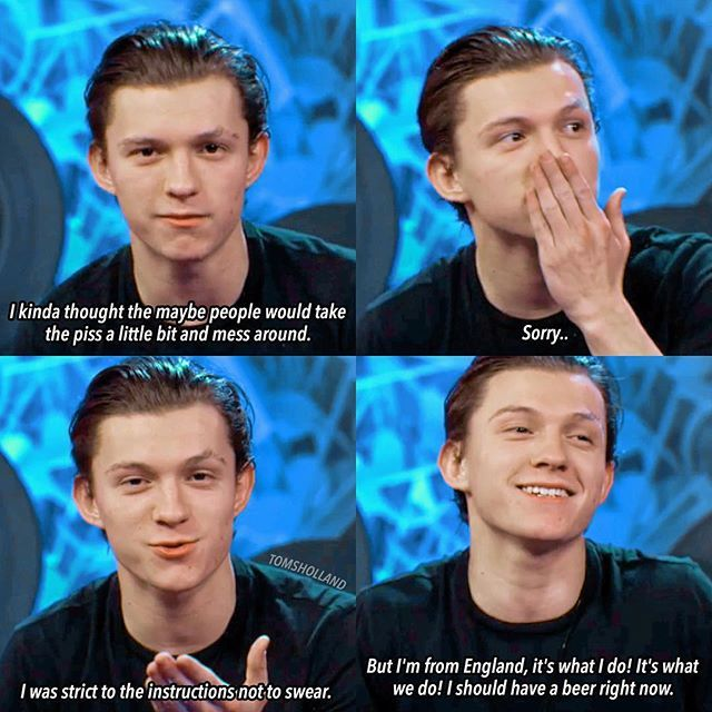 [NEW] Tom during his LIVE Q&A stream on Spider-man's official Facebook page on December 9, 2016! – Oh Tom.. You and your beer! – @tomholland2013 | #tomholland #hollanders