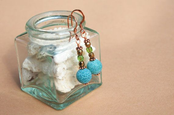 Turquoise Sea earrings by MixNBeads on Etsy, $4.00