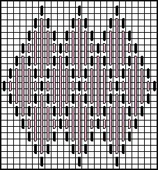 Framed Diamonds Decorative Stitch Diagram 2.