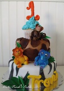 Hot Pink! Cakes: zoo birthday cake