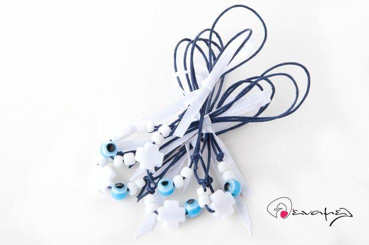 Απλά οικονομικά Μαρτυρικά βραχιολάκια για αγόρι μπλε - λευκό.  Η τιμή αφορά τεμάχιο. Ελάχιστη ποσότητα 50 τεμάχια.