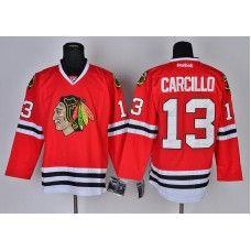 Reebok Chicago Blackhawks #13 Daniel Carcillo Red Ice Stitched Hockey  Jersey_Daniel Carcillo Jersey