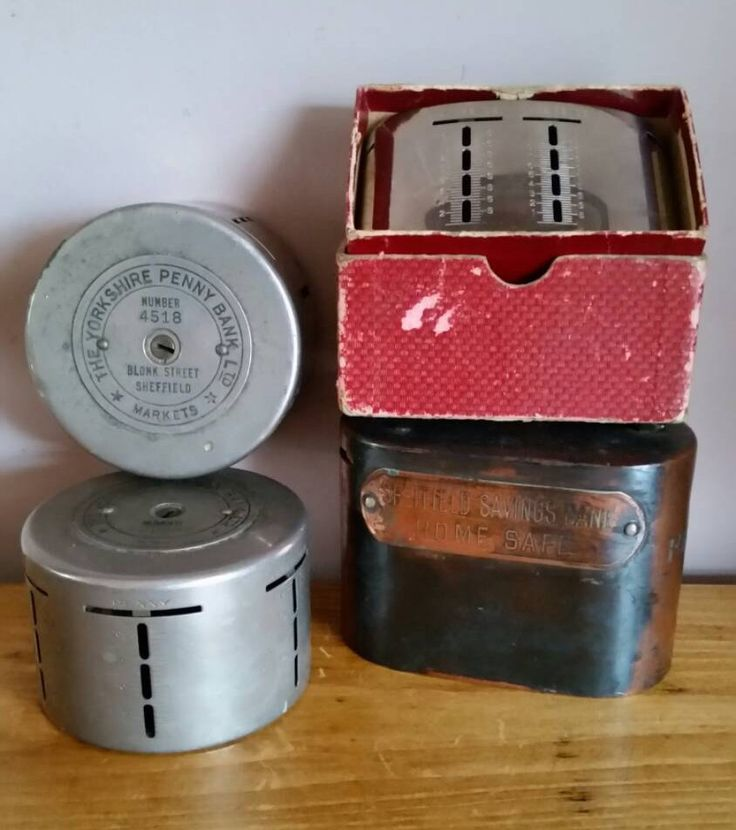 A Collection Of Four Antique And Vintage Money Box Bank Safes With Contents, Scarce Vintage British Bank Money Box/Bank Safes by OnyxCollectables on Etsy