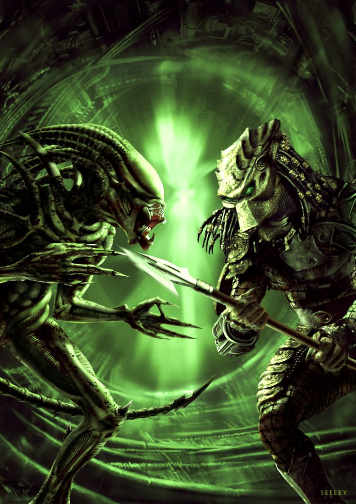 ArtStation - Aliens vs Predator, Dave Seeley