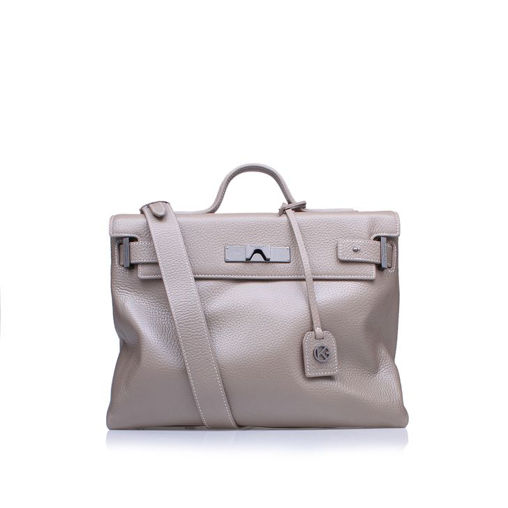 Leather Britt Tote Taupe Tote Bag By Kurt Geiger London | Kurt Geiger
