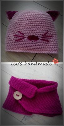 teo's handmade: Caciulita si guleras crosetate pentru fetite ... m...