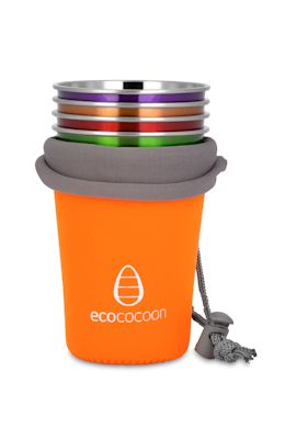 ecococoon stainless steel cup sets with neoprene cover. littlemodern.com