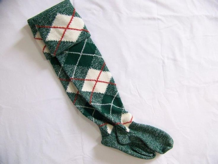 Green Tartan Kilt socks - Knitting creation by mobilecrafts | Knit.Community