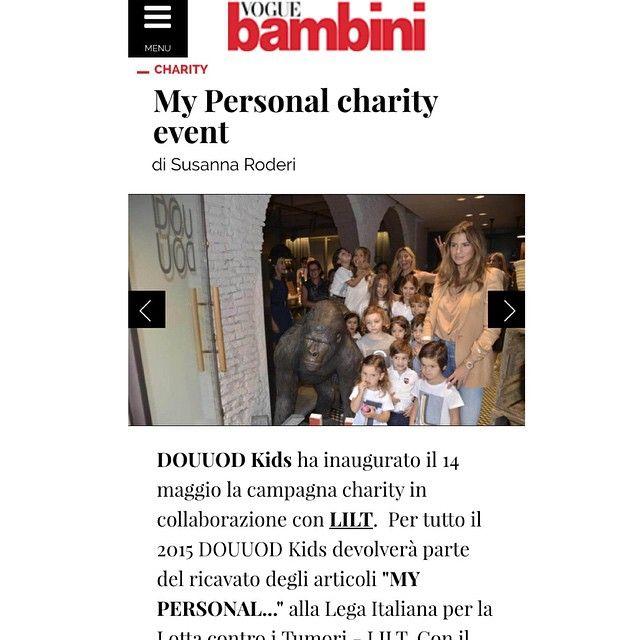 @voguebambini racconta del progetto #mypersonalcharityevent #douuodkids  www.voguebambini.vfnetwork.it/news