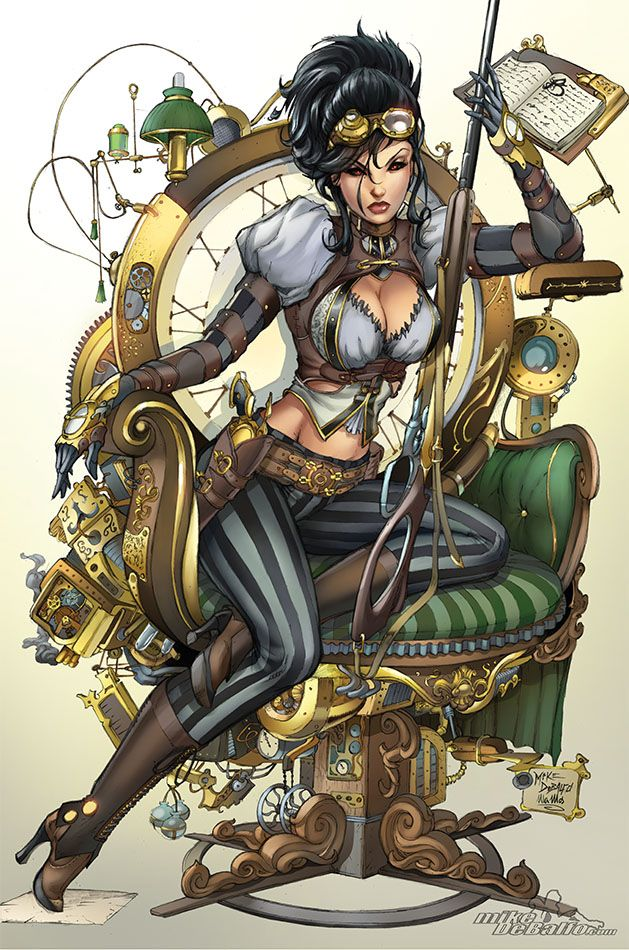 agrownupgeekgirl:  Lady Mechanika by *SquirrelShaver I have told Mike this in person but dear lord I love his work, he is my favorite artist since Mike Turner passed away. I am so glad he has taken on Soulfire :D