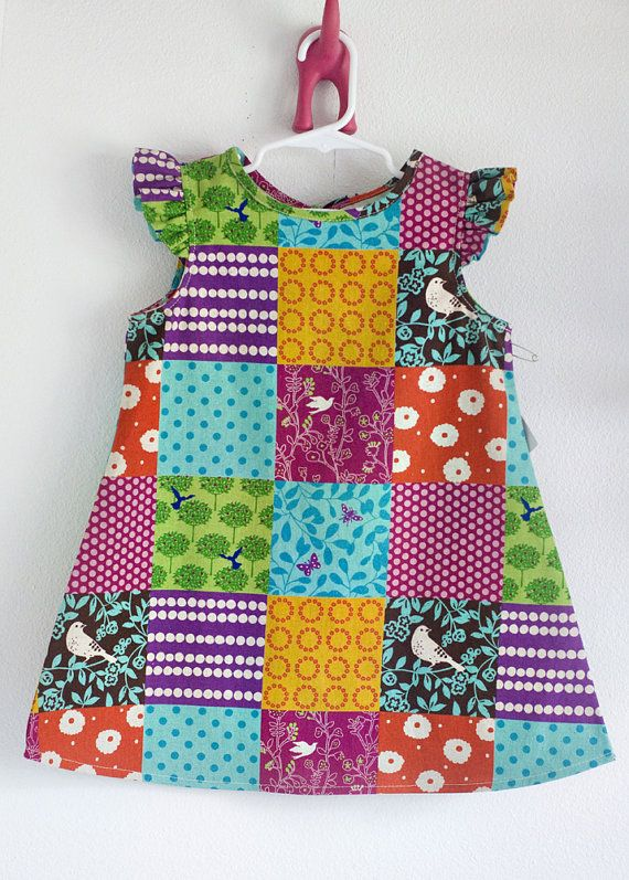 Echino Nico patchwork dress by bellyofawhale