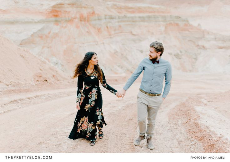 Trendy Hipster + Beautiful Boho | Lovely engagement photos | Photography by Nadia Meli