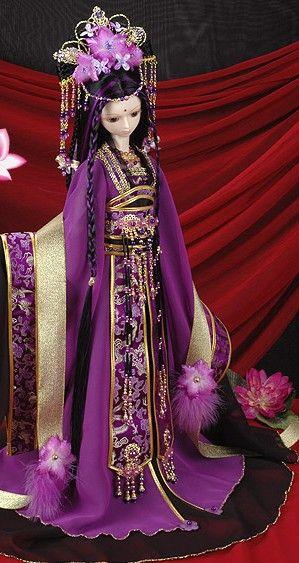 Purple Chinese doll China Doll
