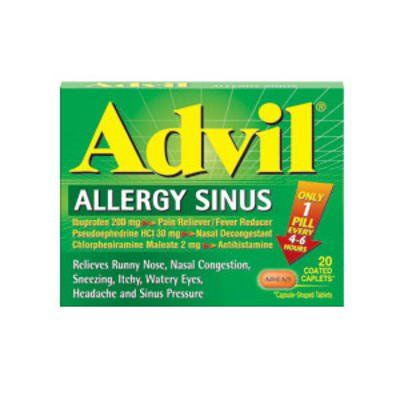 Overview of all OTC allergy and cold meds with info on side effects