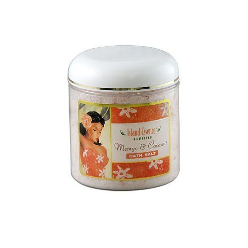 Island Essence Bath Salts, Mango Coconut by Island Essence. $17.99. Mineral rich bath salts^Contains a blend to ease muscle tension^Epsom salts draw toxins from the body^Use to reduce swelling and inflammation^Works as a natural exfoliator. Transform your bath into a wonderful stress relieving experience. Relax body and soul as you let your imagination drift off to the beautiful sun drenched islands and enjoy the tropical fragrances of Hawaii. Our bath salts are mineral rich blen...