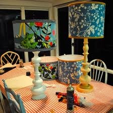 homemade lamp shades love the right one