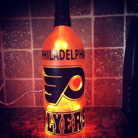 Philadelphia Flyers Wein Flasche Licht von BERKSWINEDESIGN auf Etsy