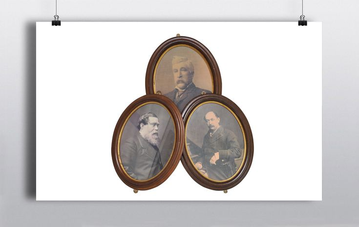 Set of 3 x Oval Picture Frames (50cmx36cm) http://www.prophouse.ie/portfolio/portraits/